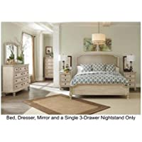 Signature Design by Ashley Demarlos Bedroom Set with King Bed, Nightstand, Dresser and Mirror