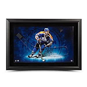 PAUL COFFEY Autographed Stick Blade with Edmonton Oilers Framed Picture UDA