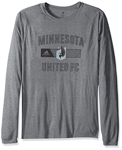 MLS Minnisota United Adult Men Forward L/S Climalite Tee,Large,Gray