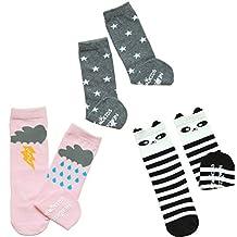Genda 2Archer Baby Girls Boys Cute Cartoon Cotton Knee High Socks Stockings 3-Pack