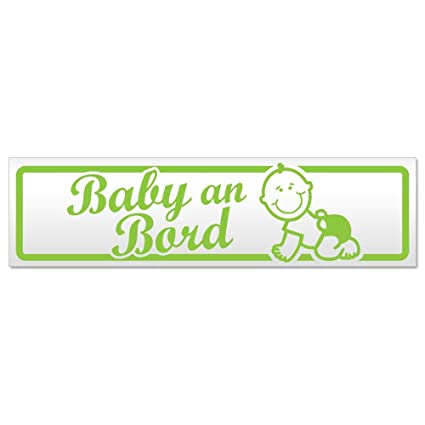 Kiwistar - Cartel magnético con diseño de bebé a Bordo ...