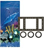 Smartline Antilles Dolphin 12-Foot-by-18-Foot Oval Overlap Liner | 48-to-52-Inch Wall Height | 25 Gauge Virgin Vinyl…