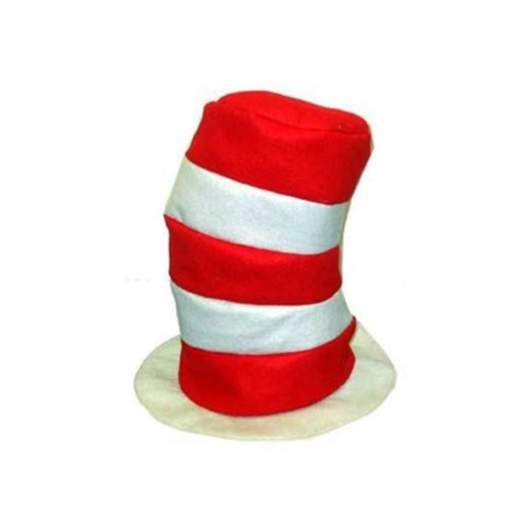 One Way Novelties Red & White Stovepipe Hats (12 Pack)