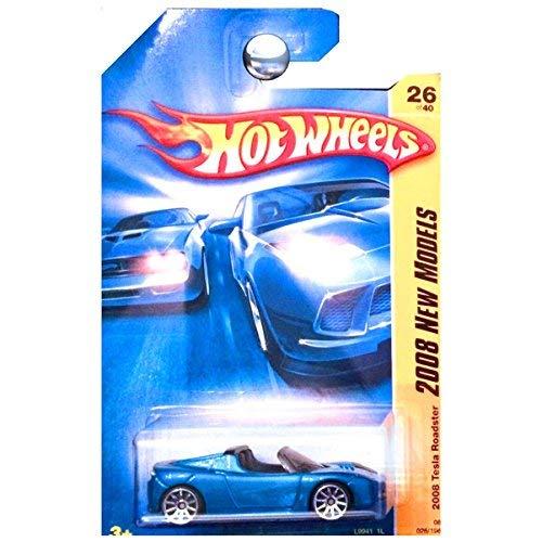 Hot Wheels 2008 New Models Tesla Roadster Convertible Blue Metallic 1:64 (approx 3
