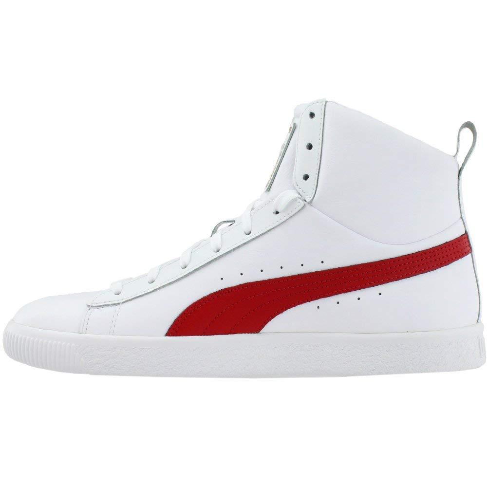 3376025acfe PUMA Men s Clyde Mid Core Foil White Barbados 11.5 D US  Amazon.co.uk  Shoes    Bags