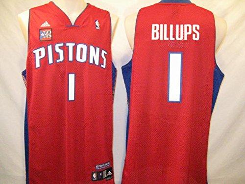 Pistons adidas Men's NBA Puerto Rico Swingman Jersey ( sz. L, Red : Billups, Chauncey : Pistons )