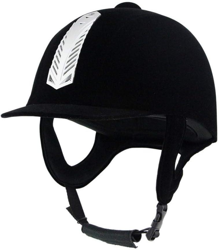 Casco De Terciopelo Casco De Equitación Equipo Ecuestre Sombrero Ajustable Protección De Sombreros De Seguridad Casco De Motocicleta Protección De La Cabeza,60cm