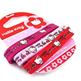 Set of three elastic 'Hello Kitty' red rose.