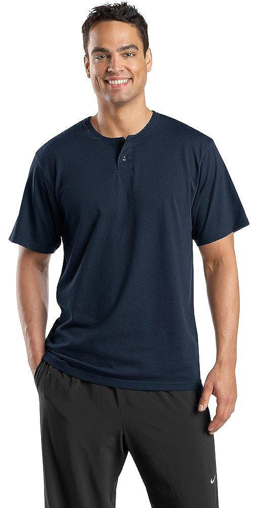 Sport-Tek Mens Short Sleeve Henley