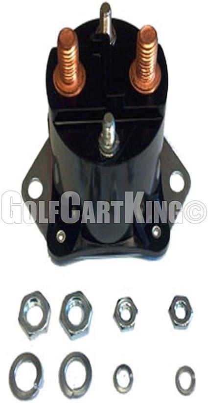 club car ds golf cart wiring diagram amazon com club car 12 volt 4 terminal solenoid  84 up  ds 04 up  club car 12 volt 4 terminal solenoid