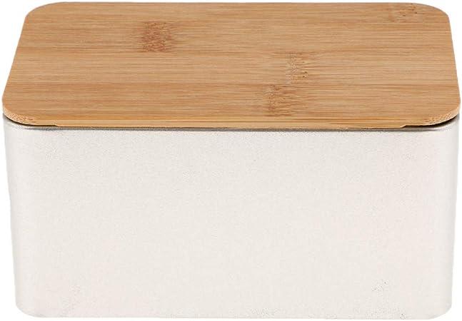LOVIVER Cocina Caja De Almacenamiento De Metal con Contenedores De Tapa De Bambú Pan Cajas De Azúcar Té Hierba Titular De Almacenamiento Contenedores De Alime - H: Amazon.es: Hogar