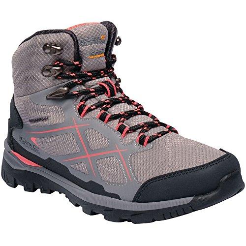 Peach Kota Mujer Botas 335 Lady Senderismo Boot Regatta Mid Hiking Para rock De Rise Gris Grey neon fZwqW5
