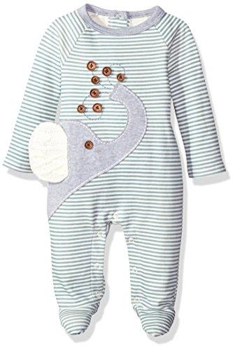 Mud Pie Baby Star Striped One Piece Footed Sleeper, Elephant, 0-3 Months by Mud Pie
