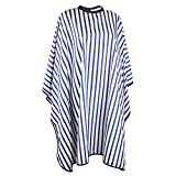 """Segbeauty® Blue Striped Hair Cutting Cape for Salon, Waterproof Hairdressing Gown 4.5"""" Closure Make-up Cape, Silky Long Cloth Wrap for Barber"""