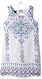 Amy Byer Big Girls\' Print Aline Dress with Cutout Back, Pat I/Multi, 12
