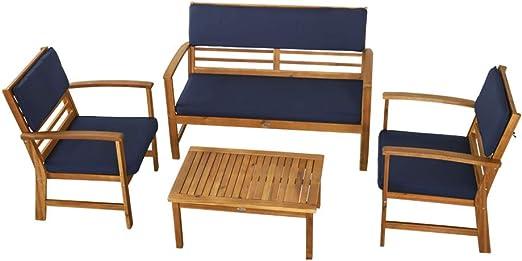 Aktive Garden 61001 - Muebles de Jardín Mesa, Banco y Sillones de ...
