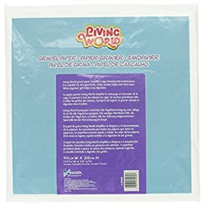 Living World Gravel Paper, 15-3/4 Inches x 15-1/2 Inches (8/Pack) 41