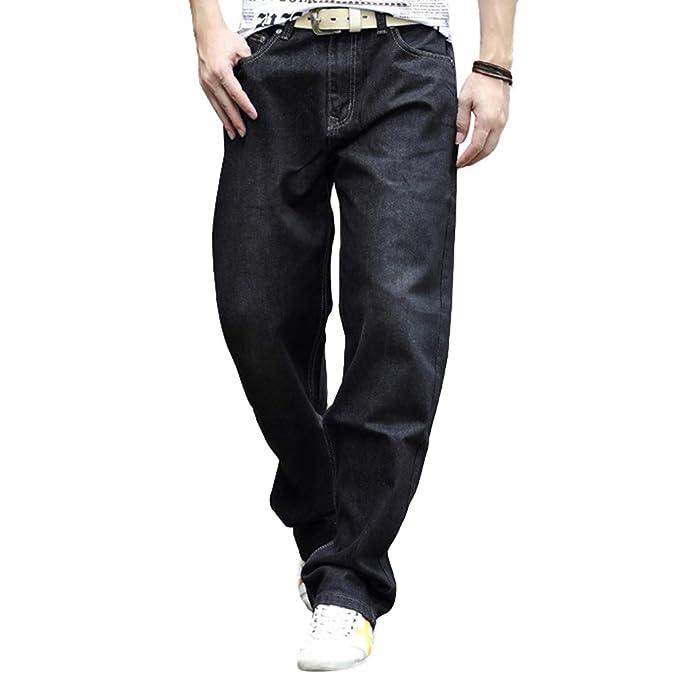 Hombres Tubo Recto Pantalones Vaqueros Tallas Grandes Jeans Street Casual Bolsillos Denim Pantalones para Senderismo Camping Trekking Mountain Caza ...