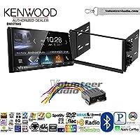 Volunteer Audio Kenwood DMX7704S Double Din Radio Install Kit with Apple CarPlay Android Auto Bluetooth Fits 2001-2005 Kia Optima, 2003-2005 Rio