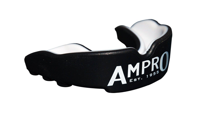 Ampro Pro Fit protezione di bocca - Nero / Bianco, Pugilato, Rugby, MMA, arte marziale di, Protezione Hockey