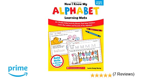 Amazon.com: Now I Know My Alphabet Learning Mats: 50+ Double-Sided ...