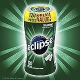 Eclipse Sugar Free Gum, Spearmint, 120 Piece Bottle