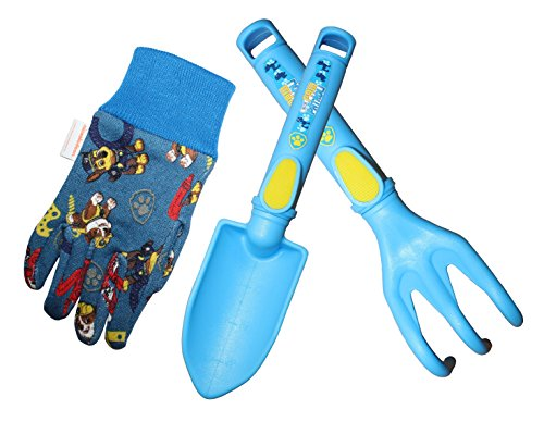 Paw Patrol Kids Garden Gloves with Tools