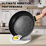 8 Inch Frying Pan with Lid, Stone Nonstick Frying