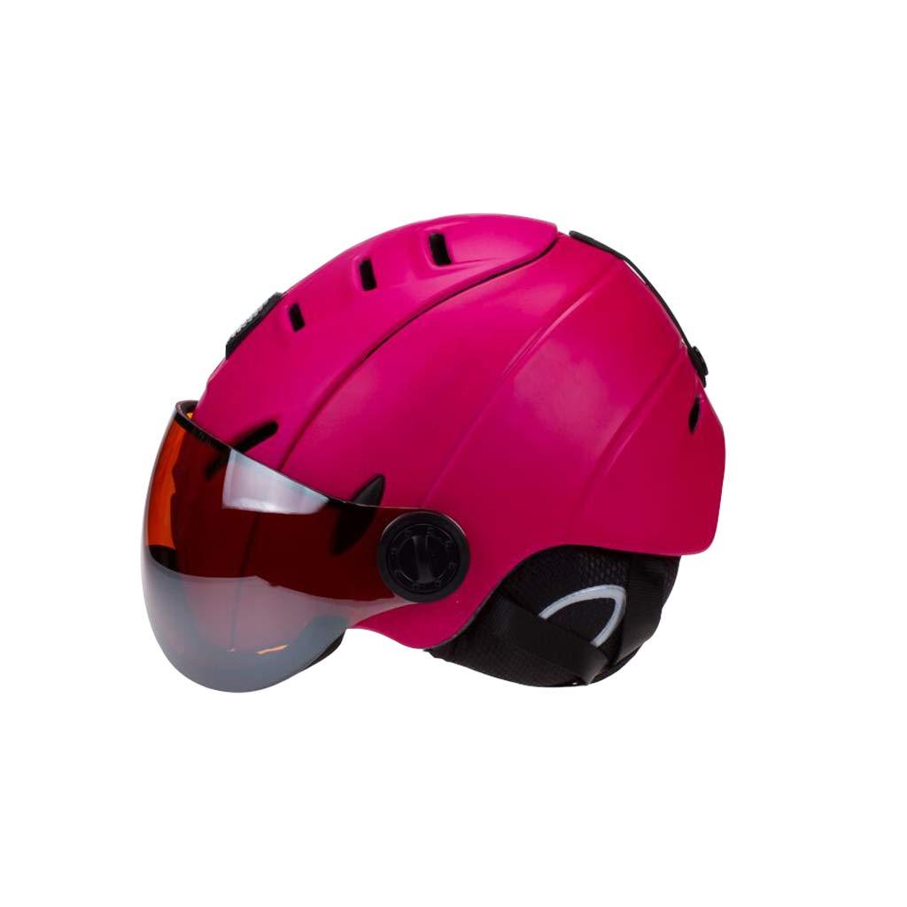 大割引 ヘルメット Purple スキー&スノーボードヘルメット、スキー用保護安全帽男性女性スケートヘルメットシングルボードダブルボードゴーグルで調整可能 B07PYF9331 B07PYF9331 Purple Medium ヘルメット Medium|Purple, eサプリ東京:d2fce1ad --- 4x4.lt