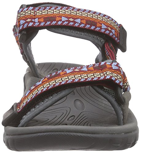 Northland Outback, Unisex-Erwachsene Plateau Sandalen Rot (red/pacific 10)