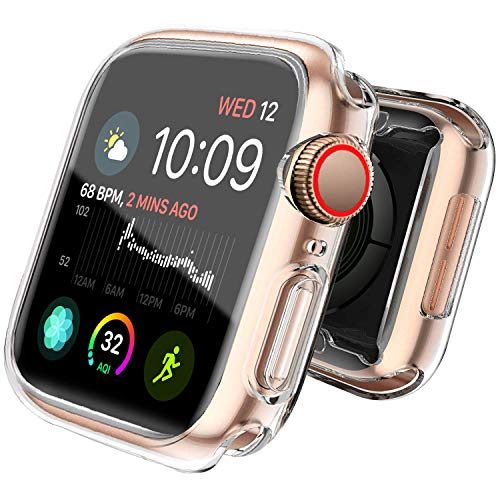 Iwatch 44mm Screen Protector Apple Watch Case 44mm Series 4 Screen Protector Anti-Collision and Scratch-Proof(Clear,Fit for Apple Iwatch Series 4 44mm)