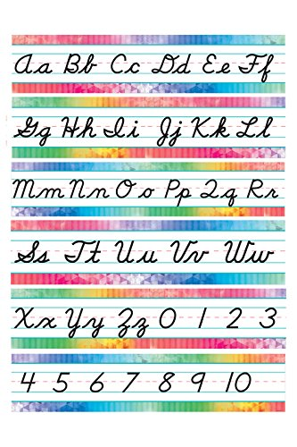 Renewing Minds Retro Chic Cursive Writing Bulletin Board Set, Set of 12 Pieces]()