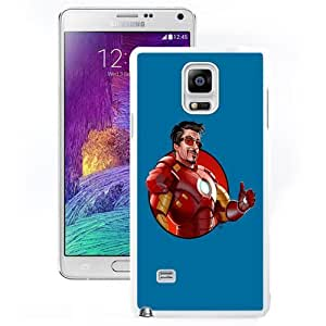 DIY and Fashionable Cell Phone Case Design with Iron Man 3 Robert Downey Jr. Galaxy Note 4 Wallpaper in White