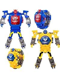 2 Pieces Transforming 2 in 1 Robot Watch, Digital...