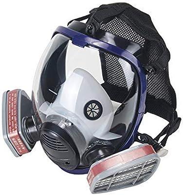 OHMOTOR Full Face Respirator Mask Activated Carbon Respirator Masks for  Organic Vapor Double Air Filter Cartridge: Amazon.co.uk: DIY & Tools