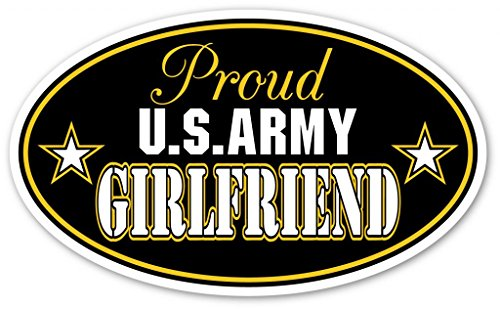Proud Girlfriend OF US Army Euro Vinyl Decal Bumper Sticker - Perfect For Car, Wall, Window, Laptop, Motorcycle, Bike, Helmet And Any Smooth Surface 3