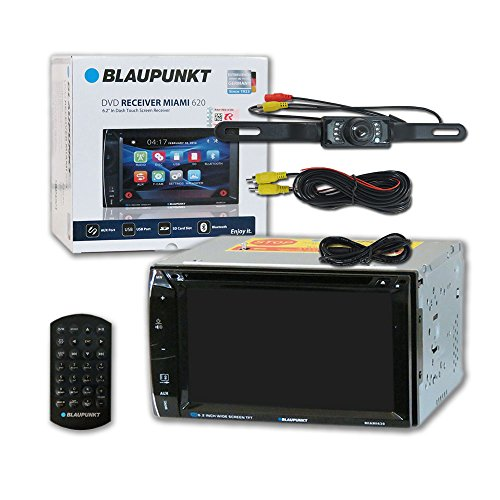 Blaupunkt Car audio Double DIn 2DIN 6.2 Touchscreen DVD MP3 CD stereo Bluetooth + Remote & DCO Waterproof Backup Camera