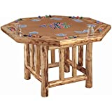 Rush Creek Creations Handcrafted Pine Octagon Poker Table