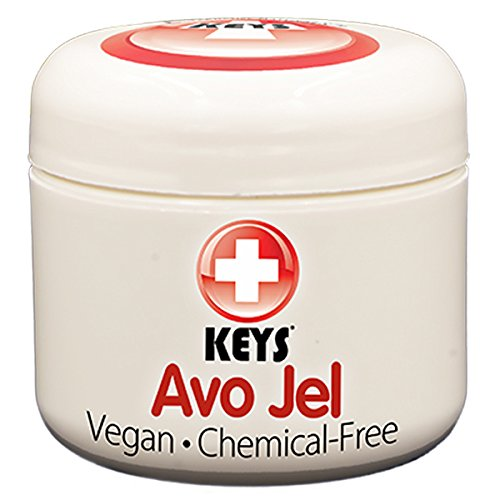 (Keys Avo Jel All Natural, Vegan, Chemical-Free Alternative Naturals Petroleum Jelly Free Skin Protectant made from Pure Organic Jellied Avocado Oil, No Wax, No Synthetic Ingredients, 2 ounces)