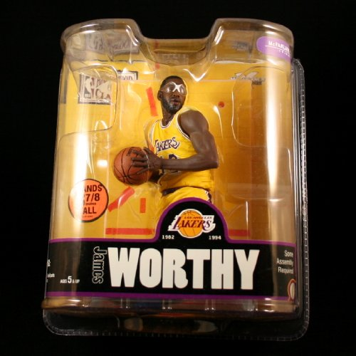 Sports Picks JAMES WORTHY / LOS ANGELES LAKERS * YELLOW JERSEY * McFarlane 6 Inch NBA LEGENDS SERIES 3 Action Figure