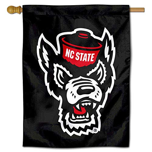 Nc State Wolfpack Merchandise - College Flags and Banners Co. North Carolina State Wolfpack Black Double Sided House Flag