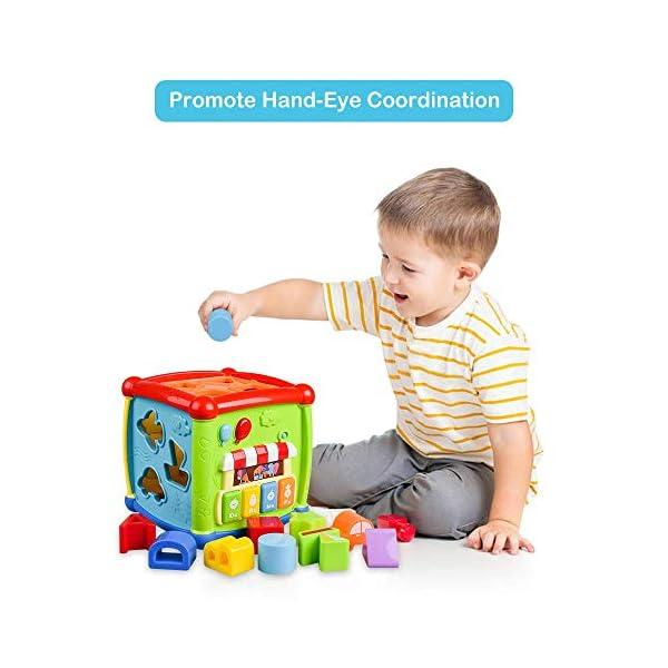 AiTuiTui Cubo attività Bambino, 6-in-1 Multifunzione Giochi Centri Educativi Prima Scatola di apprendimento Infanzia… 7