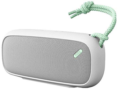 NudeAudio Move L Universal Tragbarer Drahtloser Bluetooth Lautsprecher mit UK/EU Netzstecker - Grau/Mintgrün