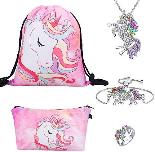 Unicornio regalos para niñas 5 Pack – Unicornio Cordón Mochila ...