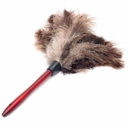 55cm Ostrich Natural Feather Duster Brush With Wood Handle Anti-static Cleaning Tool Household