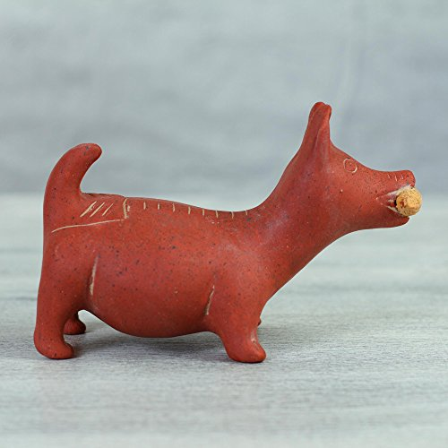 NOVICA 100238 Colima Dog Ceramic Figurine