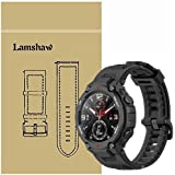 Compatible for Amazfit T-Rex Band, Blueshaw Classic Silicone Replacement Band Compatible with Amazfit T-Rex Smartwatch (Black