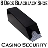 Casino Grade 8-Deck Blackjack Dealer Shoe - Casino Security Black