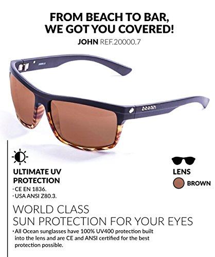 de y Gafas Negro Carey Sol mate única Sunglasses Negro Color Ocean Talla John Negro Marrón Unisex 40Ewt7pOq