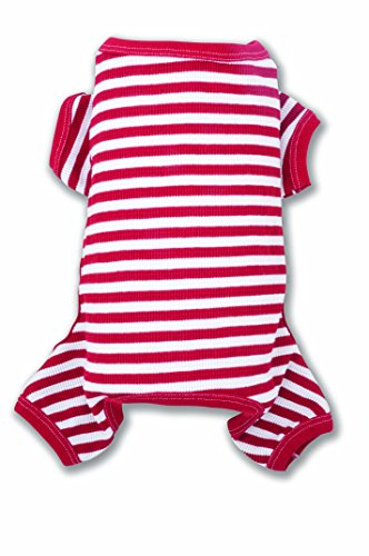 Striped Suit Union (ColdWoof 604US Candy Cane Striped Cotton/Polyester Dog Union Suit, Small)